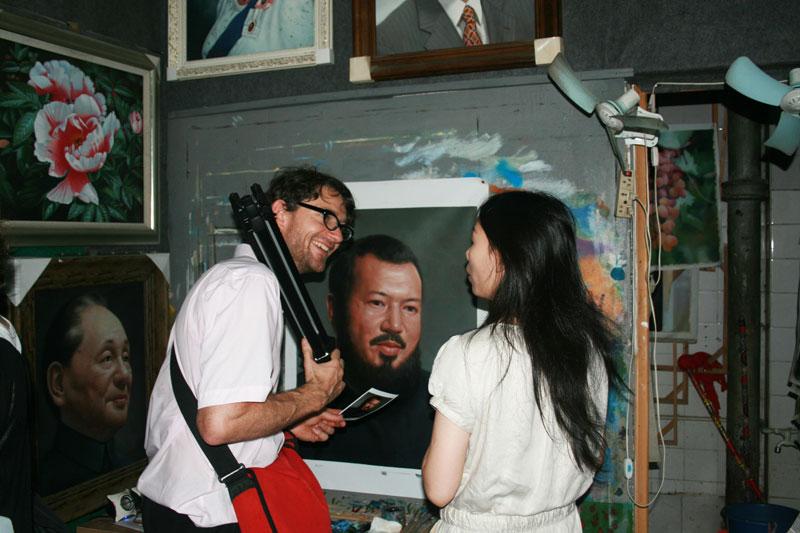 Christophe and Dafen artist- ShenZhen, China